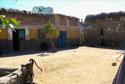 A family house in Fadel Island where around 3000 Palestinians live there