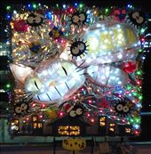 A christmas display in Takasaki, it features the cat bus from the Miyazaki anime: by peter_allen, Views[812]
