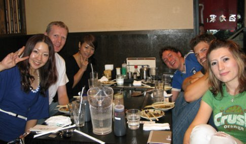From left: Mayumi, me, Nami, Andrew, Galen and Selena