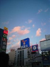 Hyaku-en advertisement in Shibuya. The hundred yen shop is Japan's equivalent of the Reject Shop, or Chickenfeed.: by peter_allen, Views[268]