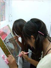 Mayu and Mayaka doing the artwork at Puricula.: by phil, Views[334]