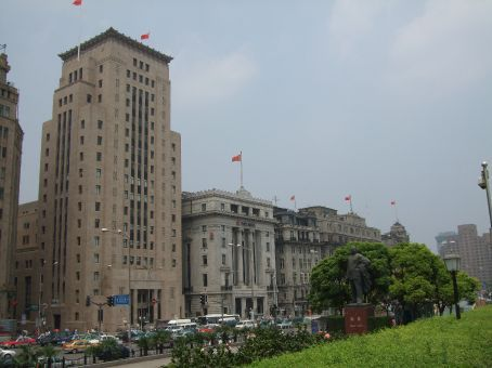 The Bund.  Can you spot the dictator?