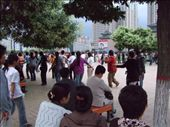 Tibetan circle dancing in Xining square: by phil, Views[216]