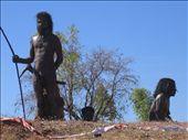 Amazing sculptures of aboriginals in the town of Wyndham, WA: by philandholly, Views[1575]