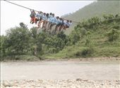 School Childrens Crossing river by Rope in Lamjung Nepal.: by photo-nature, Views[190]