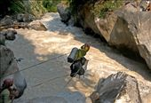 Awomen with her baggage crossing Kali river in Baglung,Nepal: by photo-nature, Views[113]