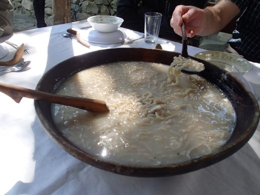 Hunza Valley typical soup