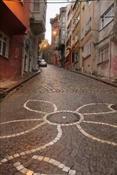 Cobblestone street up to the Greek Orthodox College: by piglet, Views[281]