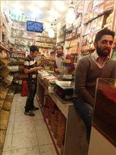 Iran - Mashhad - buying saffron at the bazaar