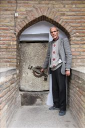 Iran - Hamedan - caretaker of Esther and Mordechai tombs