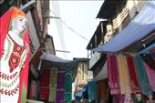 Srinigar market - selling cloth: by piglet, Views[276]