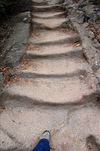 a lot of the paths were made from stone