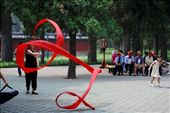 Ribbon dancing, singing, martial arts class etc; communal moments in the park: by pilgrim7, Views[340]
