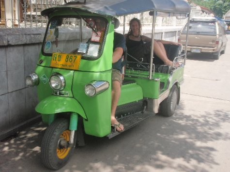 Mr Aaron Tuk-Tuk, busy in Bangkok