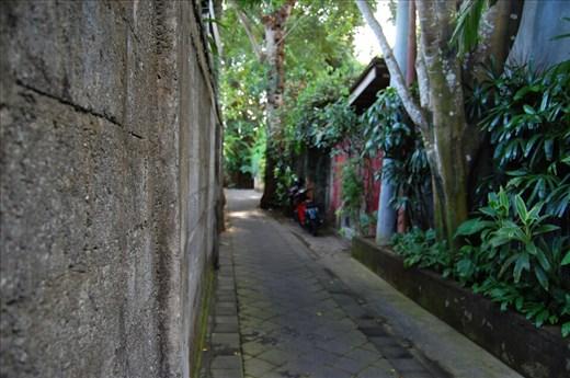 Laneway to our Villa in Seminyak