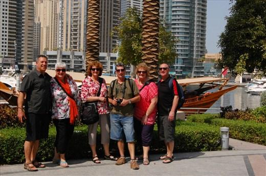 The gang at Marina in Dubai