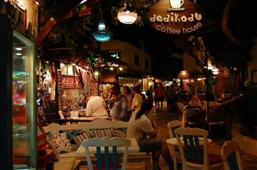 Street in Kas at night