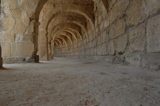 Corridor at top of Aspendos Theatre