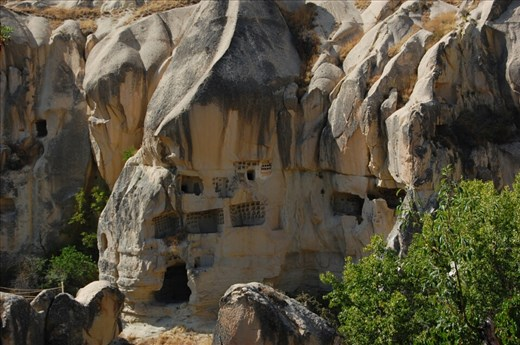 Stone cave housing in Goreme