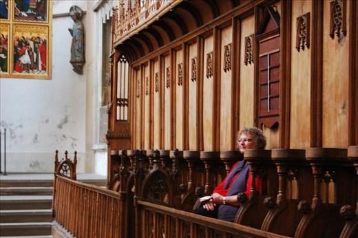 Celeste at St Jacobs Church Rothenburg