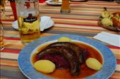Wild Boar sausage,,, Cabbage and a Beer.: by pjandc, Views[263]
