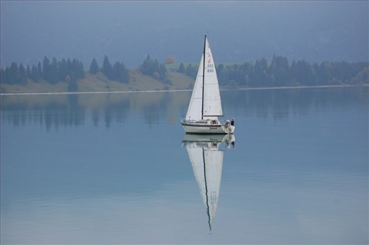 Flat water Lake Forggensee