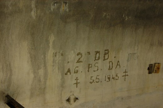 Date engraved on wall in Hitlers bunker
