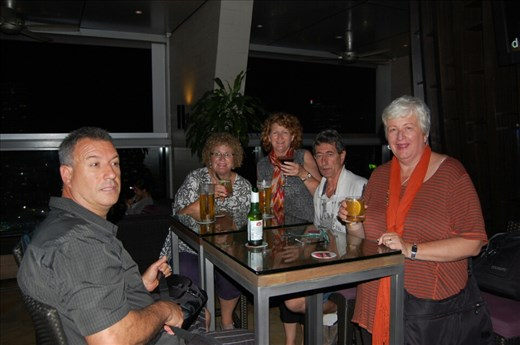 Crew at Skybar Traders Hotel