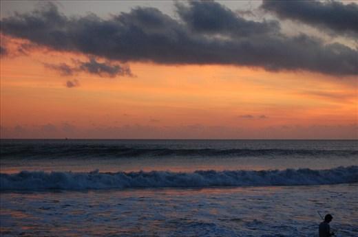Sunset over beach at Potato Head