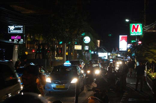 Traffic in Eat Street. Seminyak