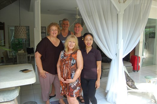 Us with Ketut at Esha Villas