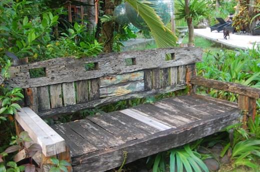 Seat in garden