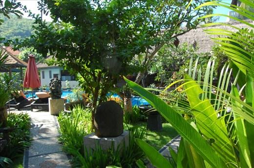 Gardens around the main pool