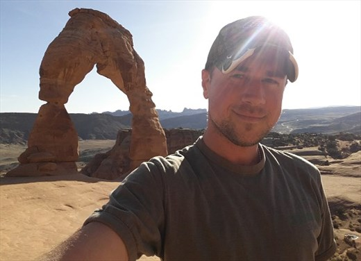 Jim and the Fragile Arch