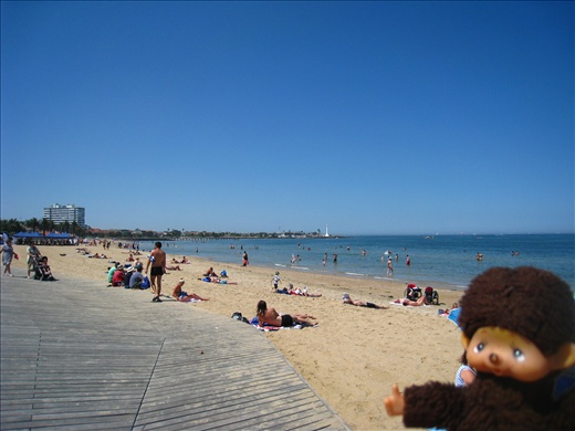 St. Kilda's Beach not far from Melbourne CBD, such a gorgeous day!