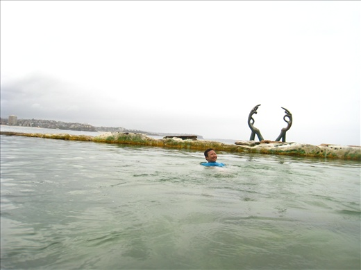 Rainy day at Manly Beach, but I found a saltwater pool and jumped in anyway!