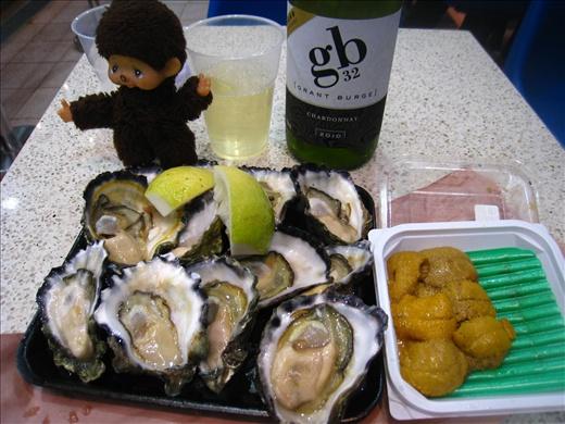 Breakfast at Sydney Fish Market, so good!