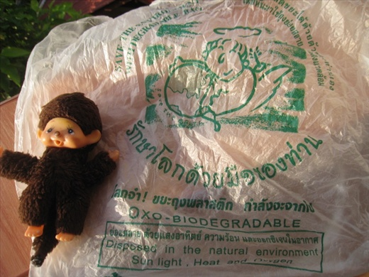 Forgot what I bought to get this plastic bag, but I'm impressed that it's biodegradable. Hope other Koh Tao vendors may follow suit!