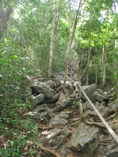 There was no nice walking path to the viewpoint, just huge rocks and a rope to hang onto.