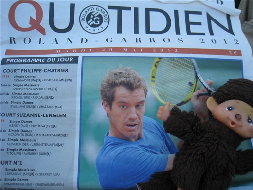 Daily news from the French Open, learned nothing because it was all in French!