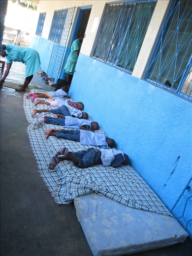 Nap time at the orphanage