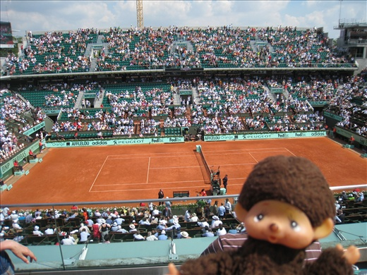 Inside Philippe Chatrier Stadium at Roland Garros, it's a beauty!