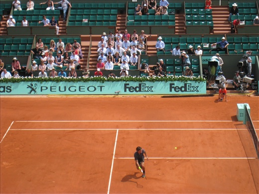 Roger Federer at his second round match