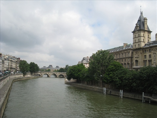 Can't get enough photos of the Seine on one of its many bridges
