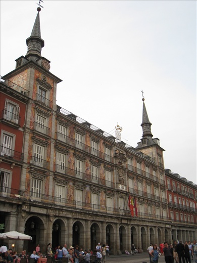 One of many plazas visited, this one is Plaza Mayor