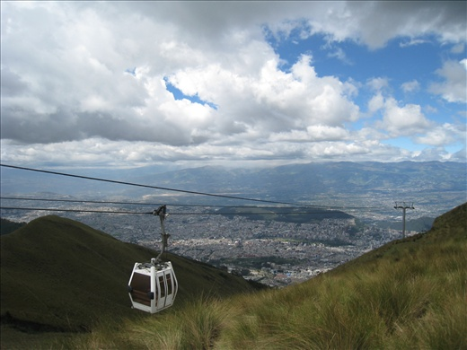 The cable car of Teleferiqo, which rises up to 3,650m/12,000 ft above sea level (Quito itself is at about 2,800m/9,200ft). Great view of the city and its surrounding volcanoes if on a clear day.
