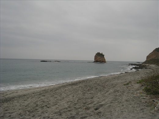 One of the beaches we patrol at Los Frailes. The sand is a dark, ashy color, and beaches are very clean.