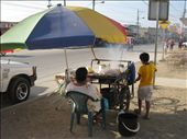 Many food vendors along the streets in Puerto Lopez, almost all fried or roasted food.: by pmok, Views[113]