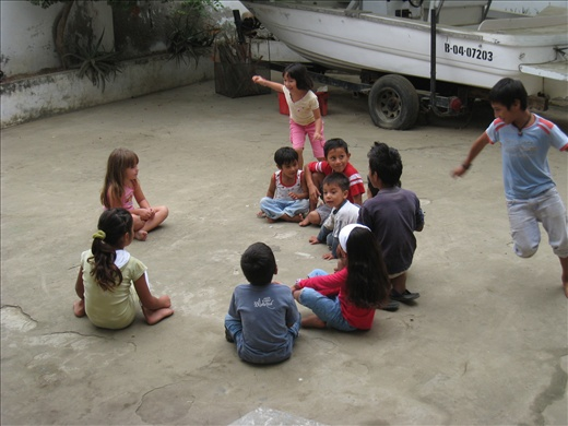 Ecoclub kids play a version of
