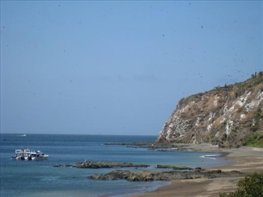 View of Isla de la Plata from our dorm room
